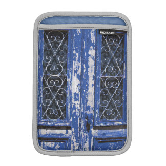 Old blue wooden door photo iPad mini sleeve