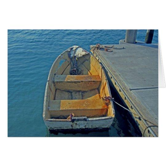 old boat at sea card