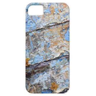 Old boat blue cracked texture iPhone 5 cases