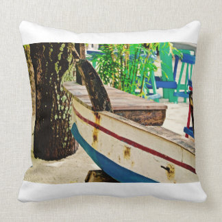 Old Boat ~ Fishing Boat ~ Canvas Art Throw Pillow