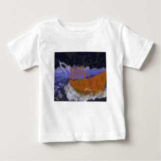 Old Boat in Storm Art Baby T-Shirt
