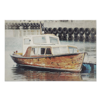 Old Boat Nautical Poster