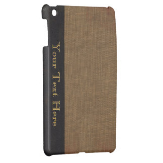 Old book cover, faux leather bound retro look cover for the iPad mini