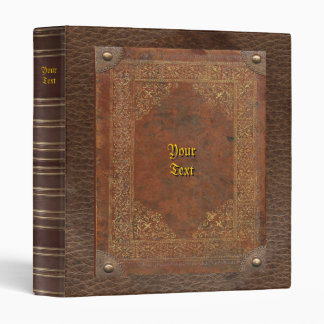 Old Book Vinyl Binder
