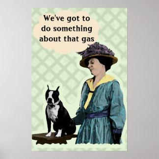 Old BostonTerrier Poster