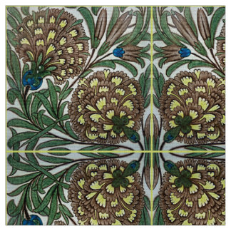 Old Botanical Victorian Design For Textiles Fabric