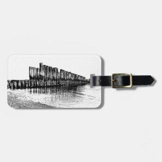 old breakwater luggage tag