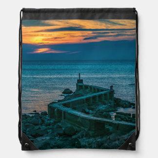 Old Breakwater, Montevideo, Uruguay Drawstring Bag