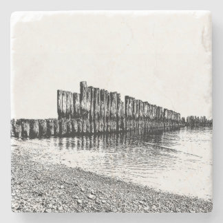 old breakwater stone coaster