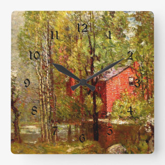 Old Brick House on the Neponset Square Wall Clock