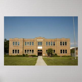Old Brick School Building Print