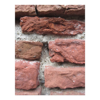 Old brick wall background letterhead design