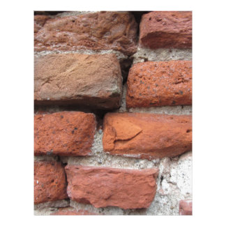 Old brick wall background personalized letterhead