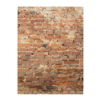 Old Brick Wall Wood Canvases