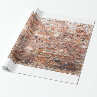 Old Brick Wall Wrapping Paper