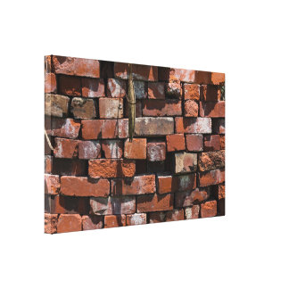 Old Bricks Abstract Canvas Print