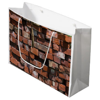 Old Bricks Abstract Large Gift Bag