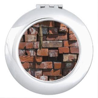 Old Bricks Abstract Makeup Mirror