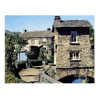 Old Bridge House Ambleside Cumbria England Postcard