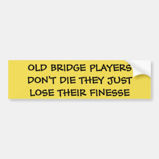 OLD BRIDGE PLAYERS DON'T DIE - BUMPER STICKER