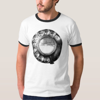 Old British Telephone Dial Design T-Shirt