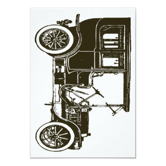 "Old Brown Car 3.5"" X 5"" Invitation Card"