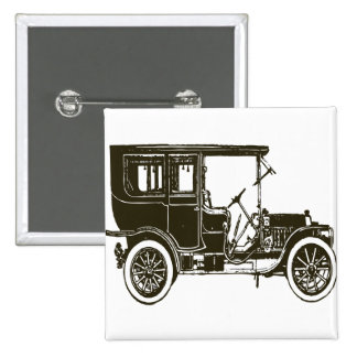 Old Brown Car Pin