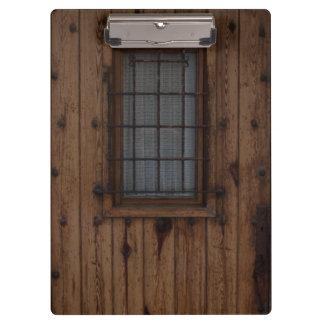 Old Brown Knotty Wooden Door Clipboard