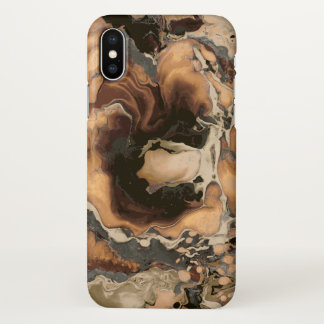 Old brown Marble like stone iPhone X Case