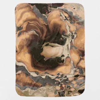 Old Brown Marble texture Liquid paint art Baby Blanket