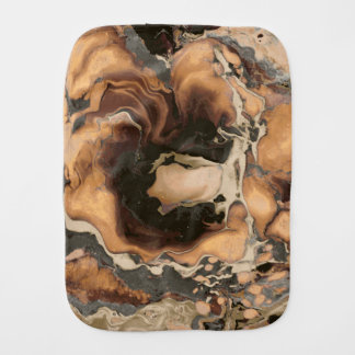 Old Brown Marble texture Liquid paint art Burp Cloth