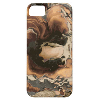 Old Brown Marble texture Liquid paint art Case For The iPhone 5