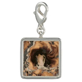 Old Brown Marble texture Liquid paint art Charm