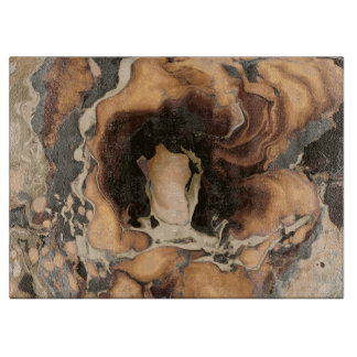 Old Brown Marble texture Liquid paint art Cutting Board
