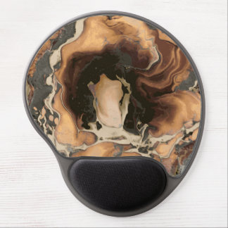 Old Brown Marble texture Liquid paint art Gel Mouse Pad