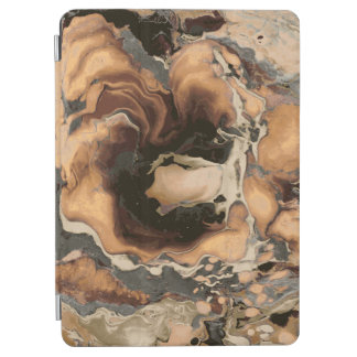 Old Brown Marble texture Liquid paint art iPad Air Cover