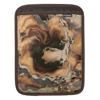 Old Brown Marble texture Liquid paint art iPad Sleeve