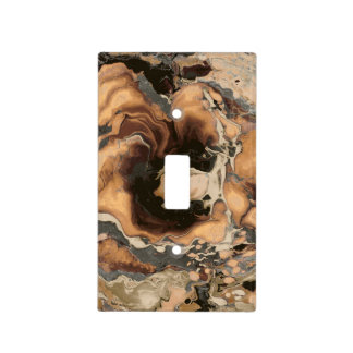 Old Brown Marble texture Liquid paint art Light Switch Cover
