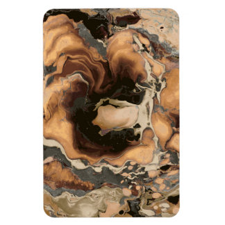 Old Brown Marble texture Liquid paint art Magnet
