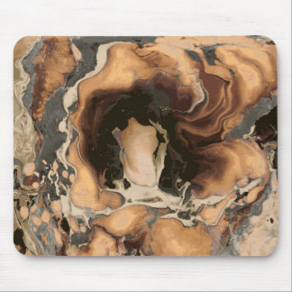 Old Brown Marble texture Liquid paint art Mouse Pad