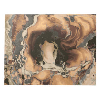 Old Brown Marble texture Liquid paint art Notepad