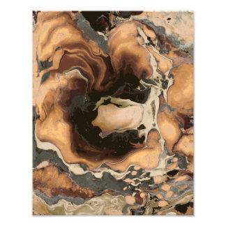 Old Brown Marble texture Liquid paint art Photo Print