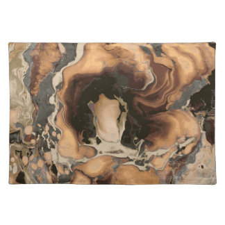 Old Brown Marble texture Liquid paint art Placemat