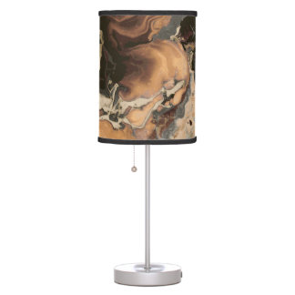 Old Brown Marble texture Liquid paint art Table Lamp