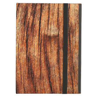 OLD BROWN WEATHERED WOOD COVER FOR iPad AIR
