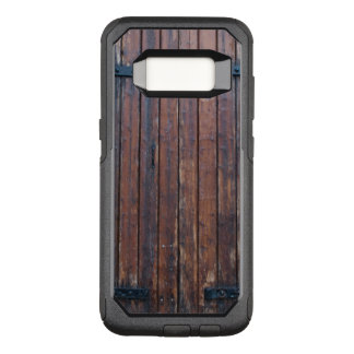 Old Brown Wood Doors With Black Iron Supports OtterBox Commuter Samsung Galaxy S8 Case