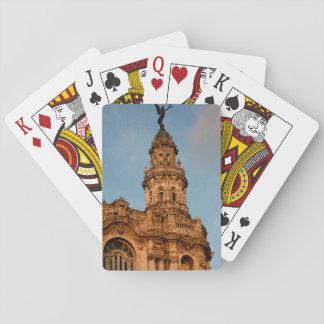 Old building Spire, Havana, Cuba Poker Deck
