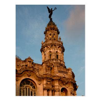 Old building Spire, Havana, Cuba Postcard