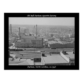 Old Bull Durham cigarette factory Postcard