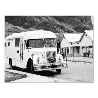 Old Bus in the street. Photo Print